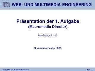 WEB- UND MULTIMEDIA-ENGINEERING