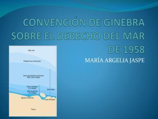 CONVENCI�N DE GINEBRA SOBRE EL DERECHO DEL MAR  DE 1958