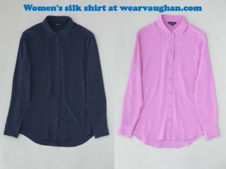 Women's silk shirt at wearvaughan.com