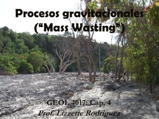 "Procesos gravitacionales (""Mass Wasting"")"