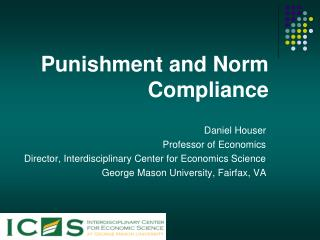 Punishment and Norm Compliance