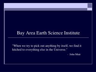 Bay Area Earth Science Institute