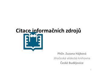Citace informačních zdrojů