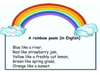 Rainbow - powerpoint presentation