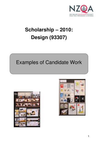 Scholarship – 2010: Design (93307)