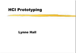 HCI Prototyping