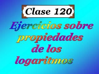 Clase  120