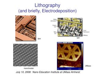 Lithography and briefly, Electrodeposition