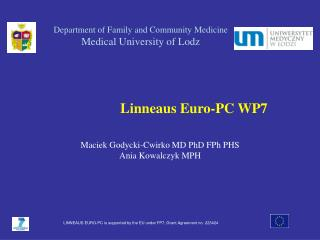 Department of Family and Community Medicine Medical University of Lodz