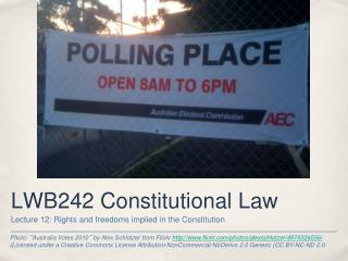 LWB242 Constitutional Law