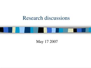 Research discussions