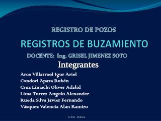 REGISTROS DE BUZAMIENTO