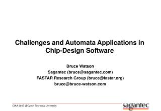 Challenges and Automata Applications in Chip-Design Software