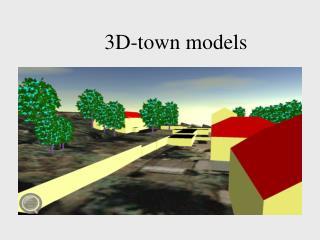3D-town models