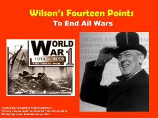 Wilson�s Fourteen Points