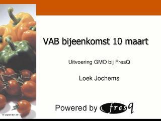 VAB bijeenkomst 10 maart