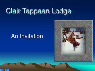 Clair Tappaan Lodge