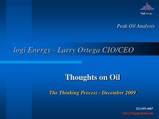 logi Energy - Larry Ortega CIO/CEO