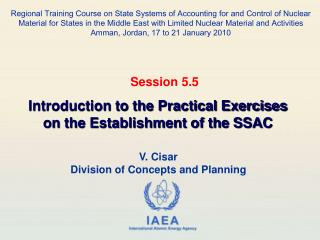 V. Cisar Division of Concepts and Planning