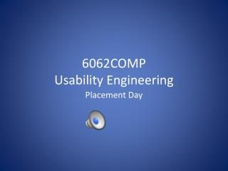 6062COMP Usability Engineering