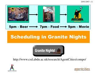 Scheduling in Granite Nights