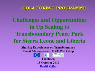 GOLA FOREST PROGRAMME