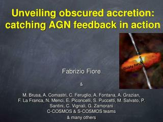 Unveiling obscured accretion: catching AGN feedback in action