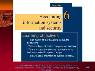 Accounting information systems and security