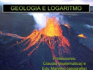 GEOLOGIA E LOGARITMO
