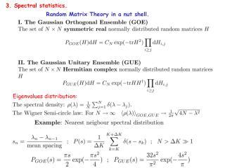 Random Matrix Theory in a nut shell.