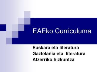 EAEko Curriculuma