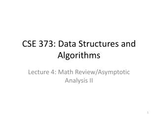 CSE 373: Data Structures and Algorithms