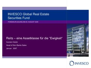 INVESCO Global Real Estate Securities Fund
