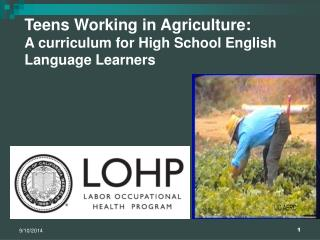 Teens Working in Agriculture: A curriculum for High School English  Language Learners