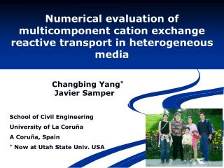 Numerical evaluation of multicomponent cation exchange reactive transport in heterogeneous media