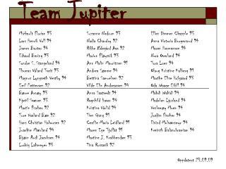 Team Jupiter