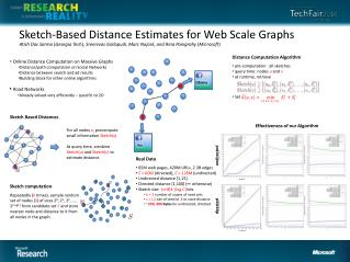 Sketch-Based  Distance  Estimates for  Web Scale Graphs
