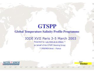GTSPP  Global Temperature Salinity Profile Programme