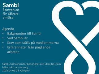 Sambi , Samverkan för behörighet och identitet inom hälsa, vård och  omsorg
