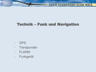 Technik – Funk und Navigation