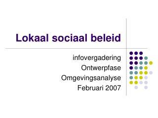 Lokaal sociaal beleid