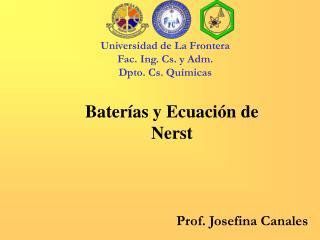 Baterías y Ecuación de Nerst