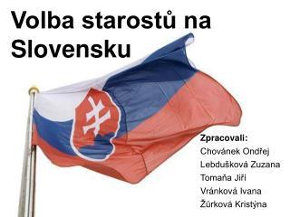 Volba starostů na Slovensku