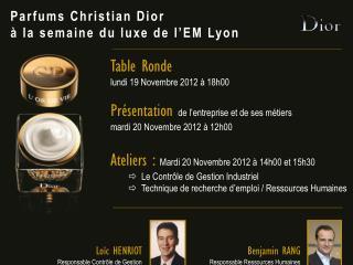 Parfums Christian Dior à la semaine du luxe de l'EM Lyon