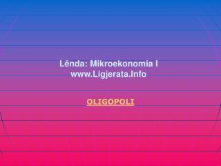 Lënda: Mikroekonomia I Ligjerata.Info