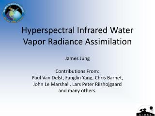 Hyperspectral Infrared Water Vapor Radiance Assimilation