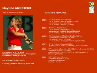 2004  :     1/2  finaliste à Nantes (25.000$)