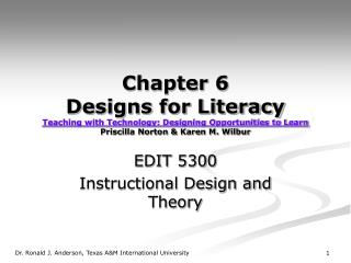 EDIT 5300 Instructional Design and Theory