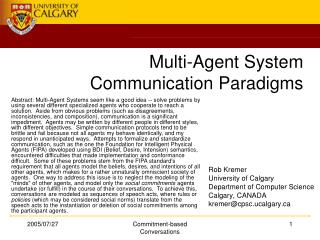 Multi-Agent System Communication Paradigms