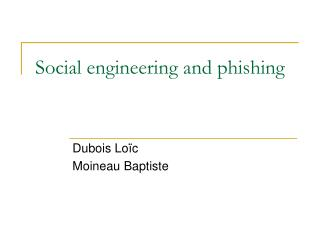 Social engineering and phishing